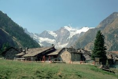Mountain huts. National Park Gran-Paradiso